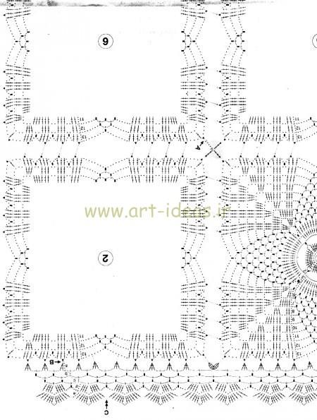 موتیف برای بافت رومیزی مراه با نقشه بافت