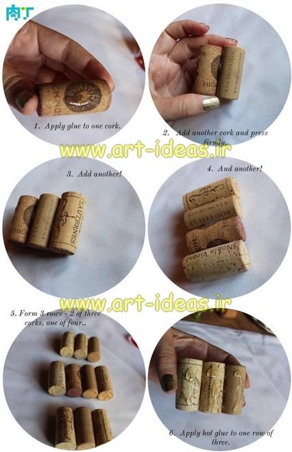 آموزش ساخت کاج تزیینی با چوب پنبه