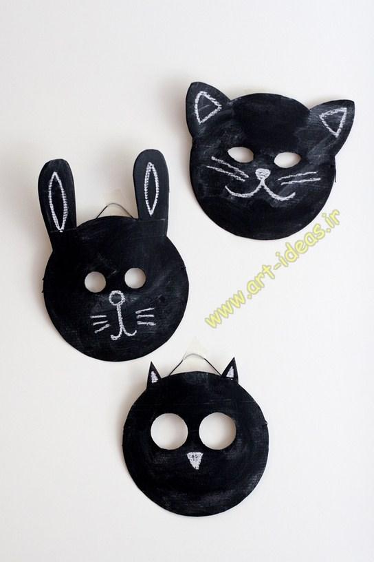 مدل ماسک صورت عروسکی به شکل حیوانات برای بازی بچه ها