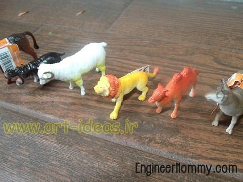 آموزش ساخت چوب لباسی خلاقانه با کمک حیوانات پلاستیکی