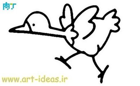 نقاشی جوجه برای گونی بافی و شبه قالی و گلدوزی و تکه دوزی و انواع هنرهای دستی
