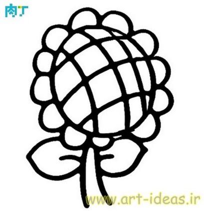 نقاشی سبد میوه برای گونی بافی و شبه قالی و گلدوزی و تکه دوزی و انواع هنرهای دستی
