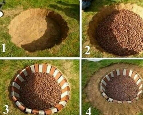 چگونه برای فضای بیرون منزل آتشدان سنگی بسازیم