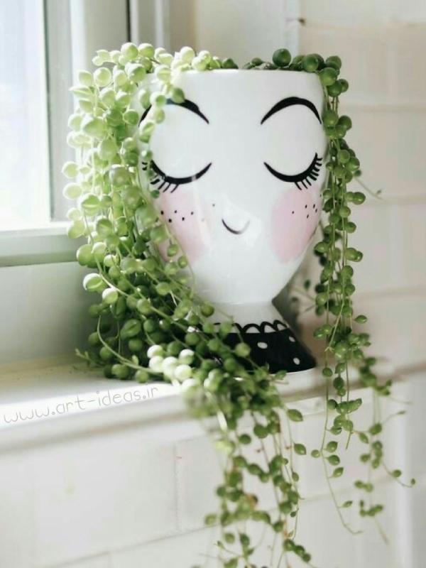 گلدان بازیافتی