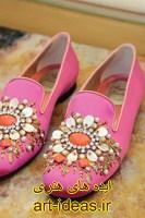 تزیین کفش دخترانه