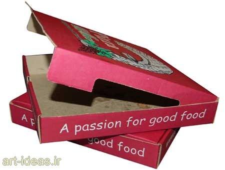 استفاده مجدد از جعبه پیتزا در تزیینات دیواری