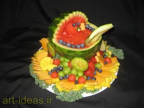 مدل تزیین میوه جات