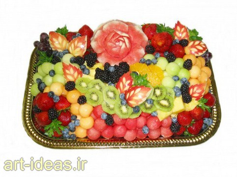 مدل تزیین میوه