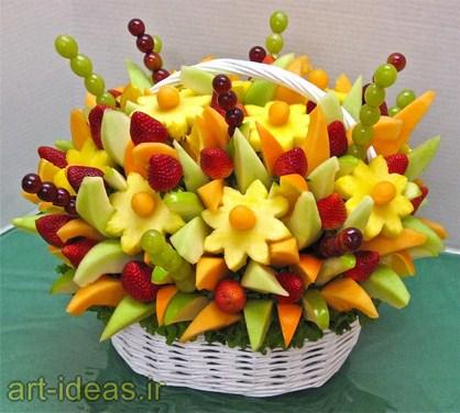 تزیین میوه پوست کنده برای مهمانی