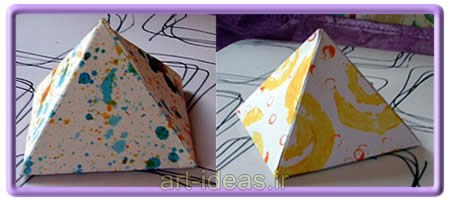 آموزش ساخت جعبه کادو هرمی