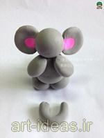 اموزش ساخت عروسک خمیری فیل