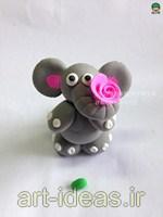 آموزش ساخت عروسک خمیری فیل