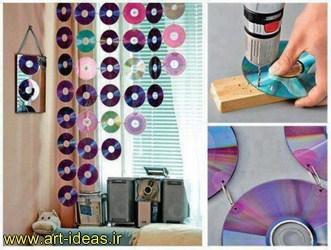 تزیینات آویزی با سی دی