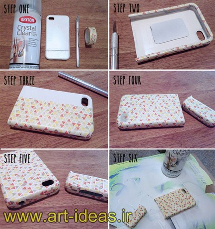 تزیین ساده قاب گوشی همراه