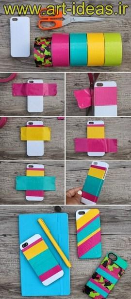 تزیین قاب گوشی همراه با چسب