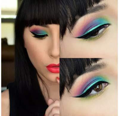مدل سایه چشم طاووسی