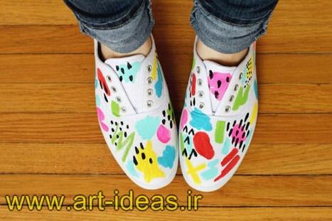 اموزش نقاشی روی کفش ساده