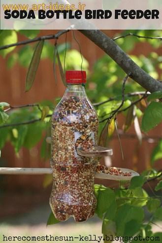 ساخت ظرف غذای پرنده