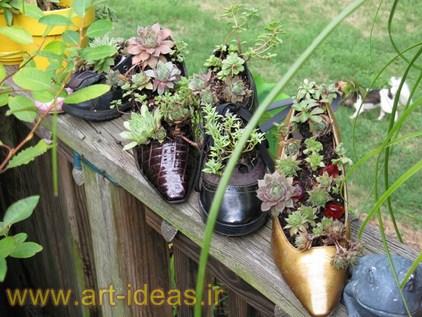 استفاده از وسایل قدیمی در فضای باغ و باغچه
