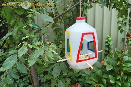 آموزش ساخت کاردستی ظرف دانه پرندگان