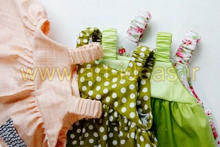 آموزش دوخت لباس تابستانی بچه گانه دخترانه