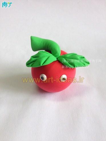 آموزش ساخت عروسک خمیری سیب